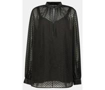 Semi-sheer embellished blouse