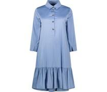 Dropwaist cotton-blend dress