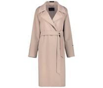 Longline notched lapel coat