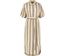 Vintage striped belted Minikleid