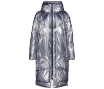 Silver tone puffer jacket