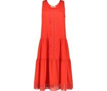 Lace detail midi dress