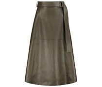 Juniper midi leather skirt
