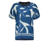 Graphic print silk top
