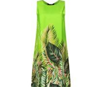 Tropical print statement shift dress