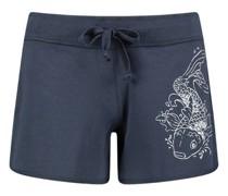 Koi print drawstring shorts