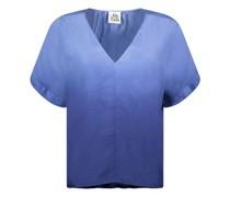 Ombré ruched-detail blouse
