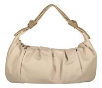 Neutrale Handtasche mit Zierfalten