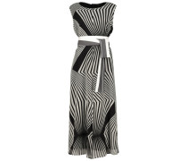Maxi retro print waist belt dress
