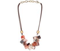 Translucent statement necklace