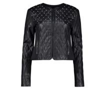 Embossed rhinestone detail jacket