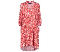 Intricate floral print knee-length dress