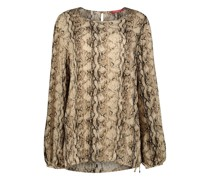 Long sleeve snake print blouse