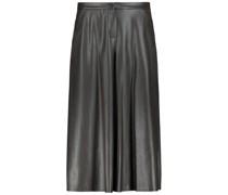 Futuristic leather effect culottes