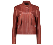 Posh leather biker jacket