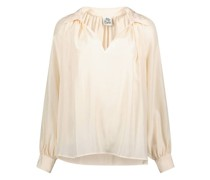 Cuffed sleeve loose fit blouse