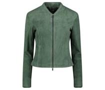 Zipper fastening suede jacket