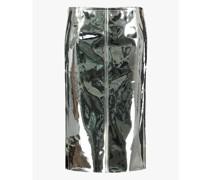 Mirrored PVC pencil skirt
