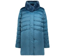 Turquoise hues quilted coat