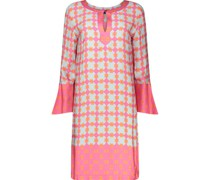 Flared sleeve shift dress