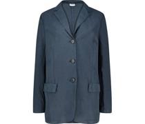 Oversized flapped pocket blazer