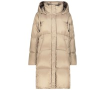 Champagne hooded down jacket