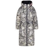 Graffiti reversible padded jacket