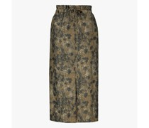 Jacquard wool-blend skirt