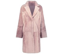 Reversible cherry blossom overcoat