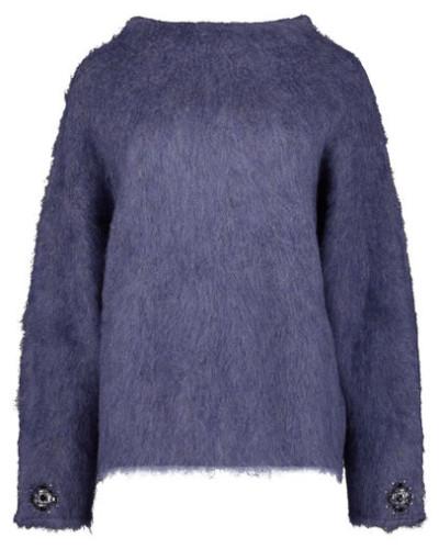 Fuzzy oversized jumper