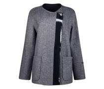 Wool blend  jacket with vinyl detailing