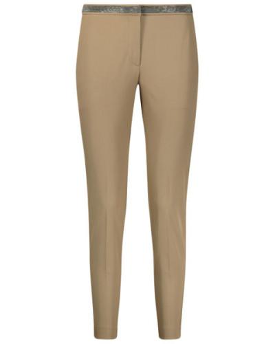 Shiny waistband trousers