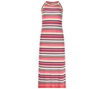 Colorful stripes jersey dress