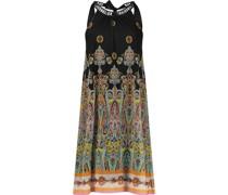 Paisley print knee-length halter dress