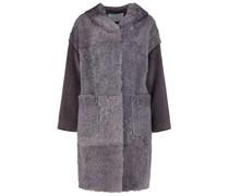Blended shearling coat