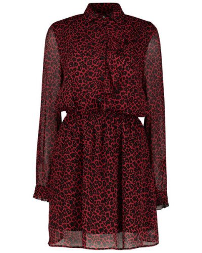 Animal print Oberteil dress