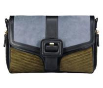 Farbblock-Handtasche mit Schnalle