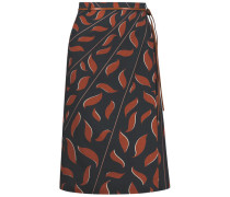 Patterned wrap skirt