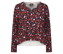 Romantic heart print blouse