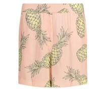 Pineapple print crépe shorts