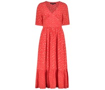 Vibrant double-textured tier dress