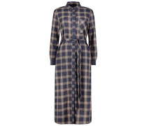 Checked Oberteil dress
