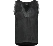 Lace inserts cami top