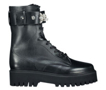 Bejeweled combat boots