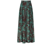 Knife-pleated maxi skirt
