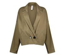 Single buttoned closure edgy blazer