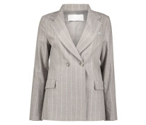 Subtle stripes fitted blazer