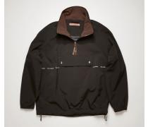 Half-zip logo-print jacket