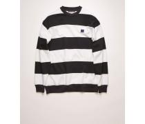 Marineblau/Weiß Gestreiftes Sweatshirt