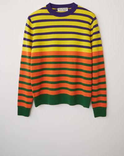 Gestreifter Pullover im Blockfarben-Design
